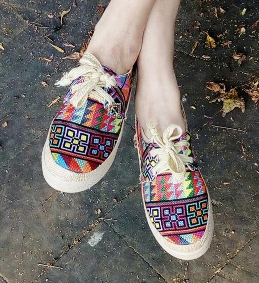 Zapatos Para Dama Con Plataforma Modelo Mosaico Con Agujeta