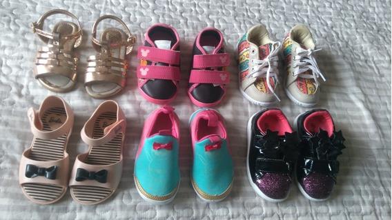 Lote De Calçados Feminino Numeração 20