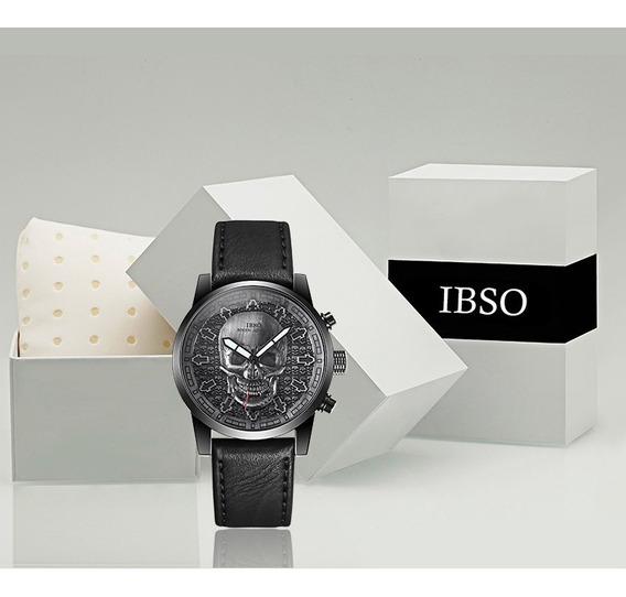 Relógio Masculino Ibso Skull Caveira Vintage -pronta Entrega