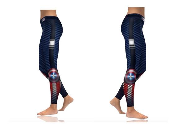 Legging Para Mujer Del Capitan America Deportivo Xtreme C