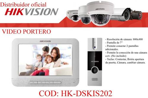 Video Portero Electrico Hd Hikvision Con Camara Citofono