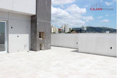 Cobertura Com Terraço, 2 Dormitórios E 1 Vaga No Bairro Jardim Botânico - Co0188