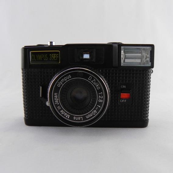 Câmera Analógica Vintage Olympus 35ef Japan - C/ Defeito
