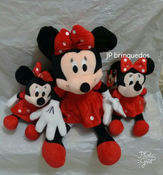 Kit Minnie Vermelha De 50 Cm + 2 Minnie Vermelha De 27 Cm