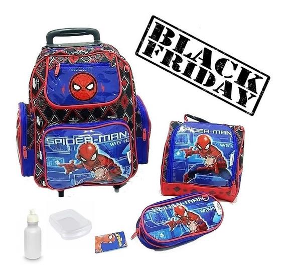 Mochila Escolar Infantil Rodinhas Homem Aranha Spider!!
