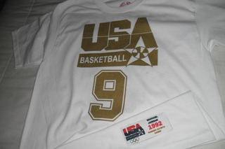 Playera Nba Usa Basketball Gold Jordan