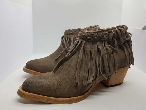 Bendito Pie Botineta Gamuza Flecos Zapato Mujer Sonny 2020