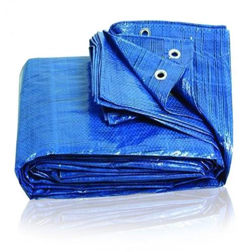 Imagen 1 de 8 de Cubrepileta Cobertor 390x690  Rafia 150 Grs 22 Ojales Azul