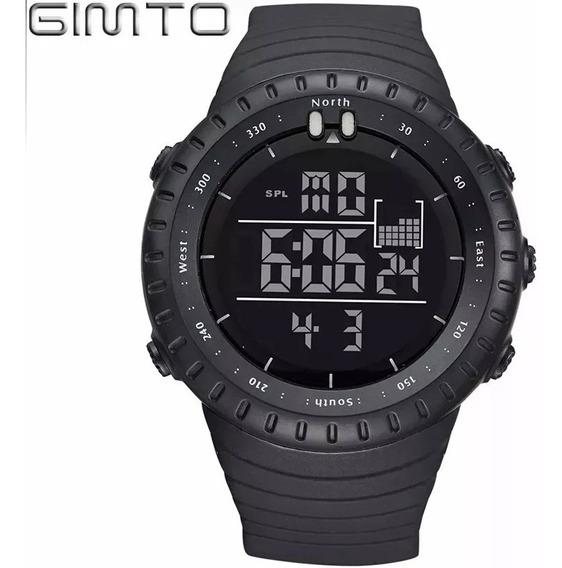 Relógio Grande Digital Aprova Dágua Cronômetro Barato Preto
