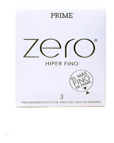 Imagen 1 de 2 de Preservativos Prime Zero Hiper Fino 6 Cajitas X 3 Unidades