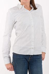 4471a7aabc1 Camisa Lacoste Listrada Feminina Bca Original Nova