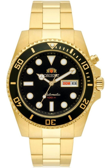 Relógio Masculino Orient Automático 469gp066 P1kx Dourado