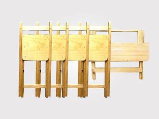 Set Mesa Y 4 Sillas Plegables Mobiliario Restaurant Y Jardín