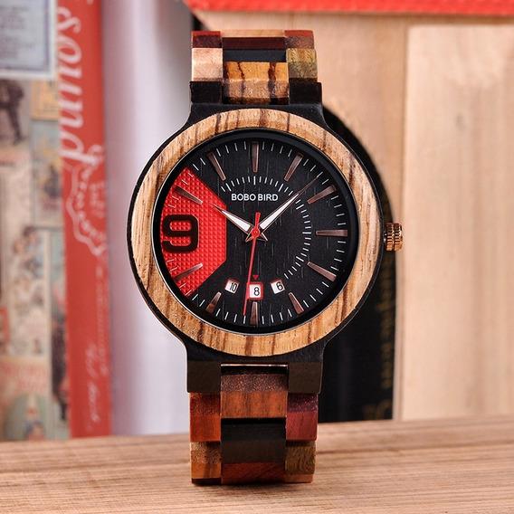 Relógio De Luxo De Madeira
