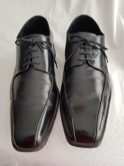 Zapatos De Cuero Negro Nro 45 Sarkany