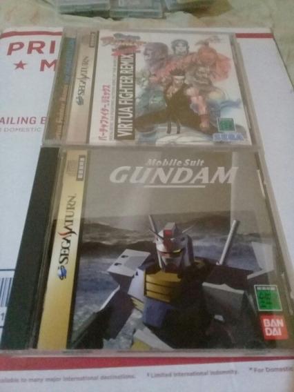 2 Jogos Sega Saturno Japa Virtua Figther E Gundam Impecaveis
