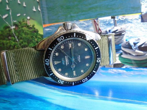 Technos Sky Diver 200m Automatic Eta 2783 Anos 70 44 Mm Raro