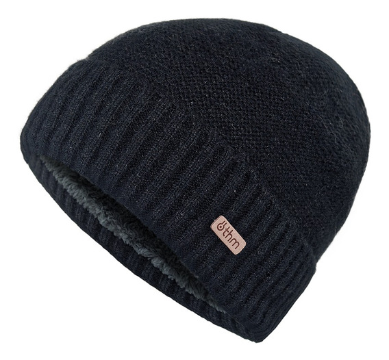 Gorro Thermowoolly Unisex Thm Negro Talla Única - Color Negr