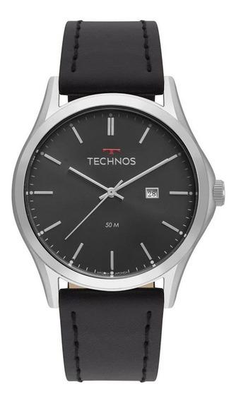Relógio Technos Masculino Ref: 2115msg/0p Classic Prateado