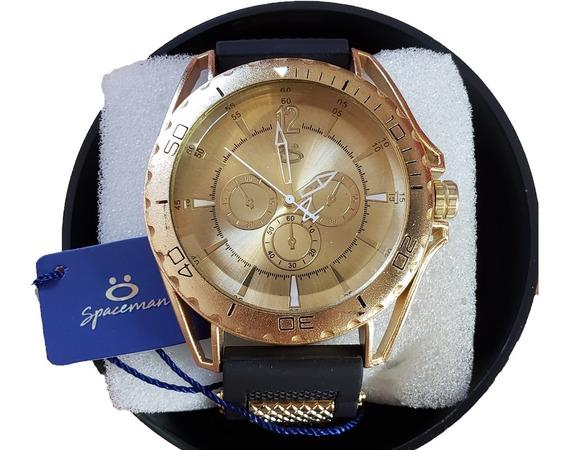 Relógio Unissex Orizom Original Pulseira Silicone Dourado
