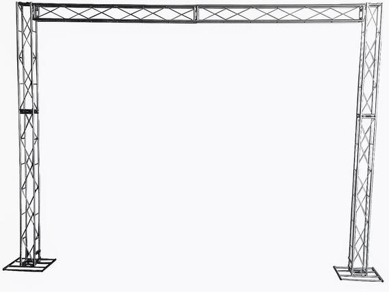 Treliças Kit Trave Boxtruss Q15 2,5x3m Guatemi Suportes