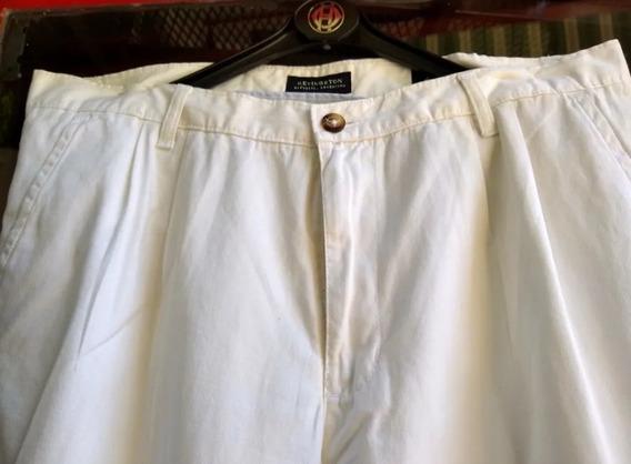 Kevingston -pantalon Hombre En Gabardina Blanca -t.46 -impec