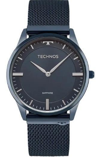 Relógio Technos Unissex Slim Azul 9t22an/4a