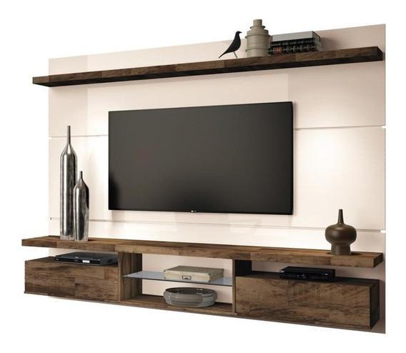 Painel De Tv Suspenso Bancada Livin 2.2 Off White/deck - Hb