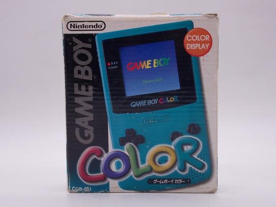 Game Boy Color Verde Com Caixa + 10 Jogos