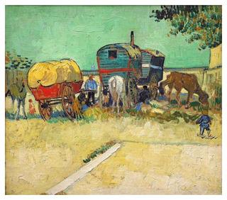 A Caravana Cigana - Van Gogh - 75x86 Tela Para Quadro