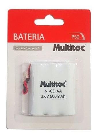 Kit 12pcs Bateria P50 3.6v 600mah Aa P/ Telefone Sem Fio