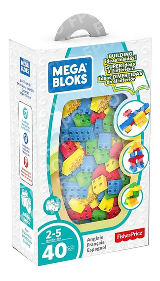 Juguete Mega Boks Caja De Construcción 40 Pzas