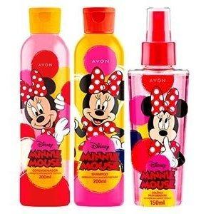 Avon Kit Infantil Minnie Mouse Colônia +shampo+condicionador