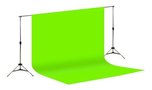 Imagem 1 de 10 de Suporte Fundo Infinito + Tecido Verde Chroma Key 3x3