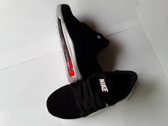 Zapato Con Luces Nike Negro. Tallas 21 Al 26