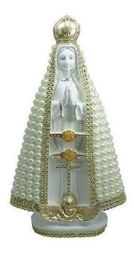 Imagem Nossa Senhora Aparecida Branca Perola Perola  15 Cm