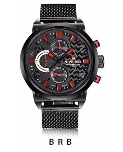 Relógio Masculino Luxo Original Naviforce Quartzo Aço + Nfe