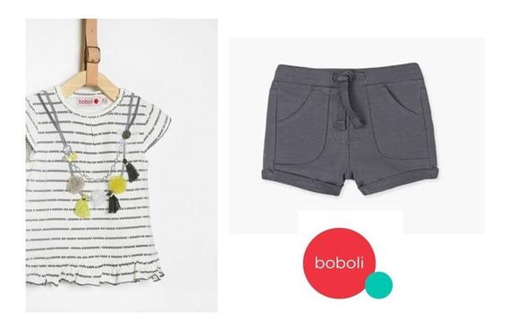 Conjunto Chic Boboli Blusa Y Short # 9m 12m Y 4 Años