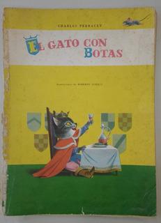 Antiguo Cuento El Gato Con Botas (1968) Impreso Italia