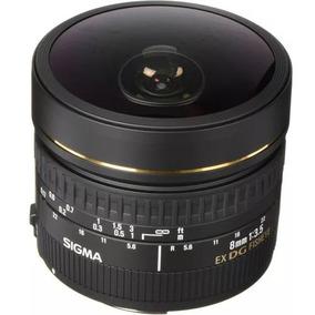 Lente Sigma 8mm F/3.5 Ex Dg Fisheye Nikon (olho De Peixe)