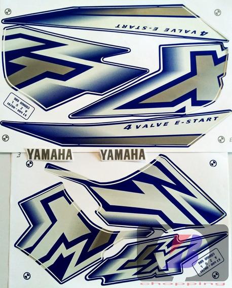 Kit Jogo Faixa Adesivo Yamaha Xt 600 Azul 2000 / 2001