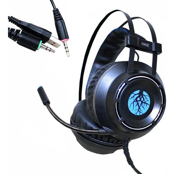 Headset Gamer Haiz Hz9800 Led Microfone Ultrabass Regulável