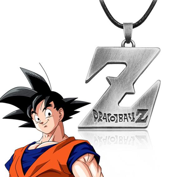 Colar Cordão Dragon Ball Z Goku Prata