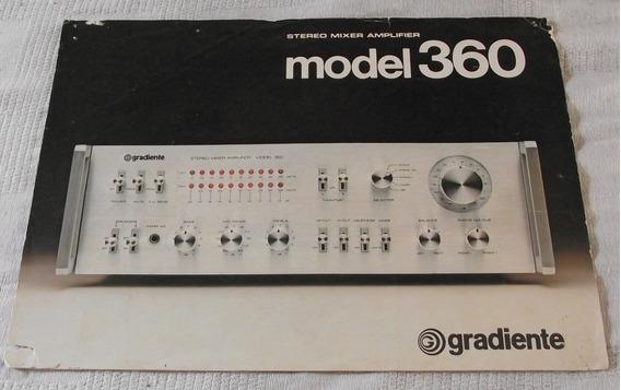 Fôlder Gradiente Amplificador Model 360 21x59mm