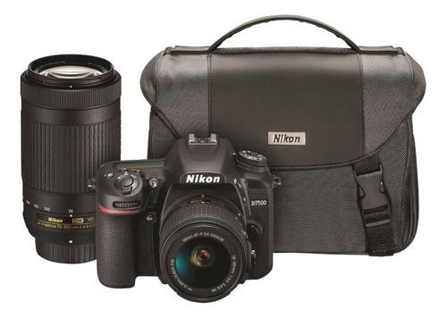 Nikon D7500 Dual Zoom Lens Kit DSLR color negro