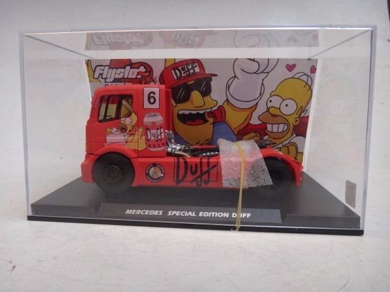 Caminhão Autorama Flyslot Mercedes Special Duff Simpsons