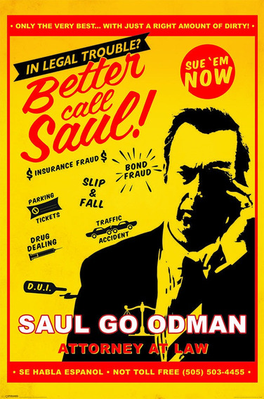 Poster De Breaking Bad - Better Call Saul Attorney At Law