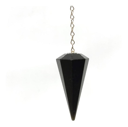 Pêndulo De Cristal Natural Obsidiana