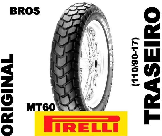 Pneu Pirelli Traseiro Honda Bros Mt60 60p 110/90-17 Original
