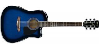 Ibanez Pf15ecetbs Guitarra Electroacustica Azul